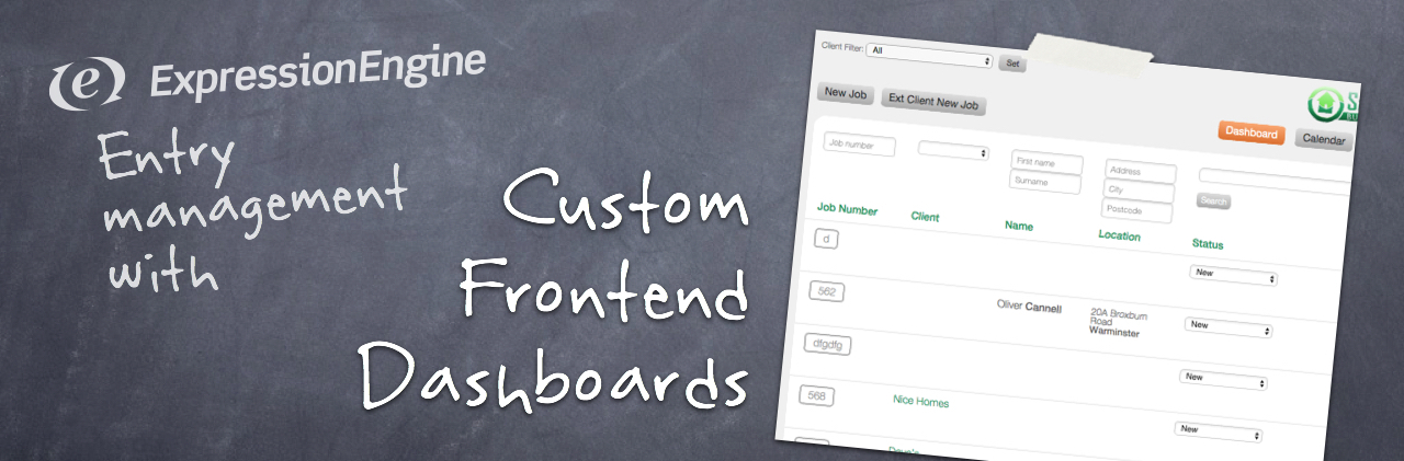 Custom ExpressionEngine Dashboards for your EE website