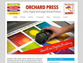 Website designed to tempt Orchard Press customers with juicy print services