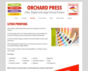 Print services info pages