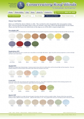 Choosing a fabric for the conservatory blinds