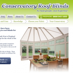 Blinding new website designed for Conservatory Roof Blinds