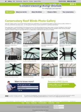 Conservatory Roof Blinds installation gallery