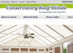 Blinding new responsive website designed for Conservatory Roof Blinds