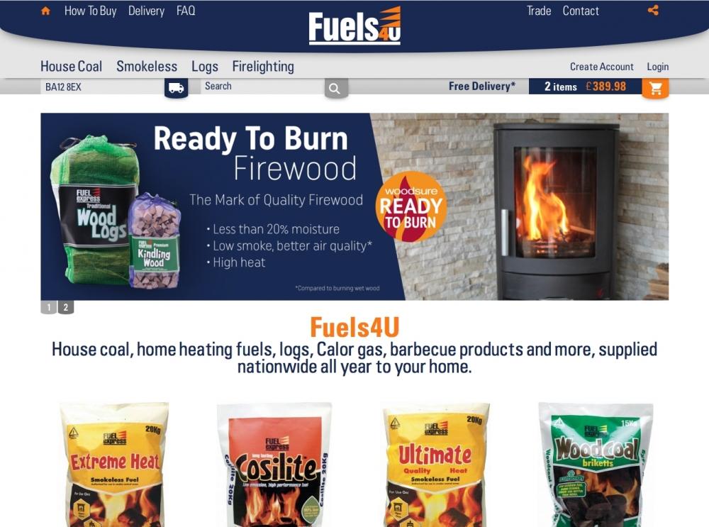 Fuels4U homepage