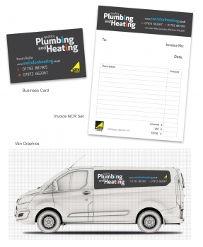 Stationery and van graphics design