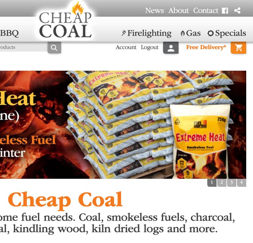 Cheap Coal ecommerce website
