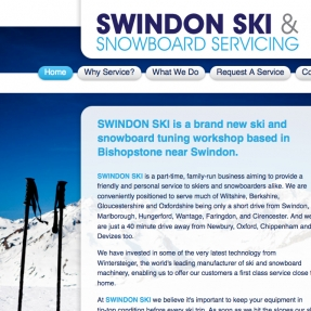 Ice cool new website for Swindon Ski & Snowboard Servicing