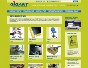 Gigant product category page
