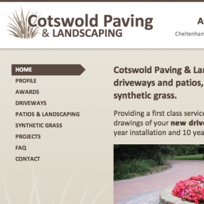 Rebrand and website facelift for Cheltenham paving and landscaping company