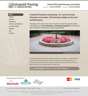 Cotswold Paving homepage
