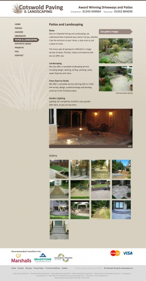 Cotswold Paving patios page