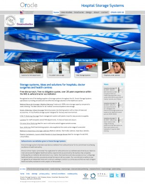 Hospital Storage website homepage