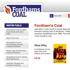 Fordham's Coal logo