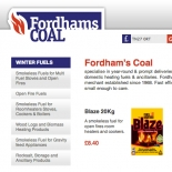 Red hot new branding and website designed for Fordham's Coal