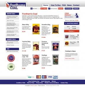 Fordham's Coal website homepage