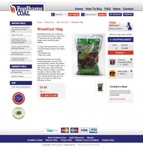 Website product page