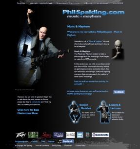 PhilSpalding.com homepage