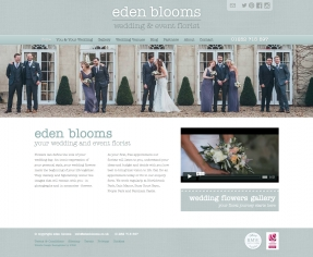 Helping wedding florist Eden Blooms flourish with rebranding, website and print