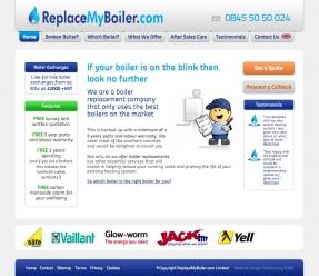 ReplaceMyBoiler.com homepage