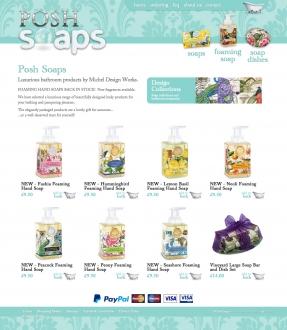 Posh Soaps homepage