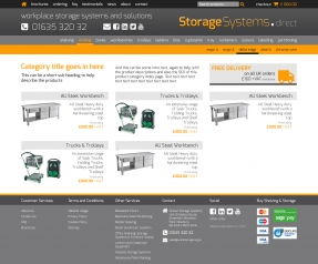 Storage products category page