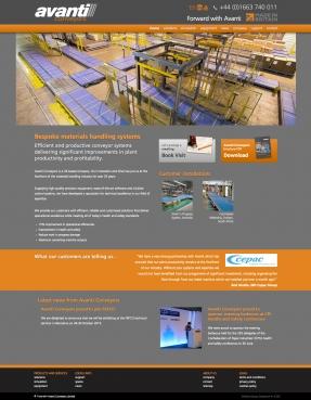 Avanti Conveyors homepage