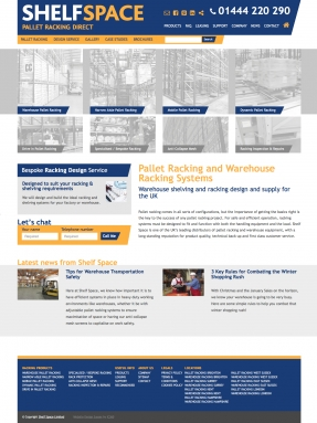 Pallet Racking Direct homepage