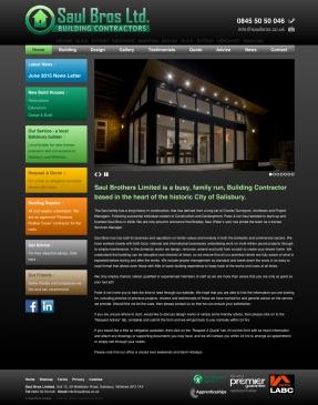 Saul Bros website homepage