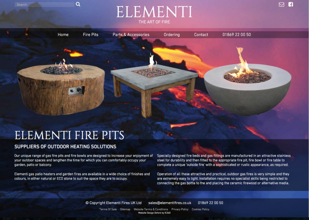 Elementi Fires Homepage