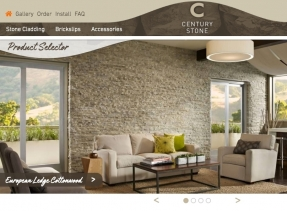 Building a solid website for Century Stone's interior and exterior stone cladding business