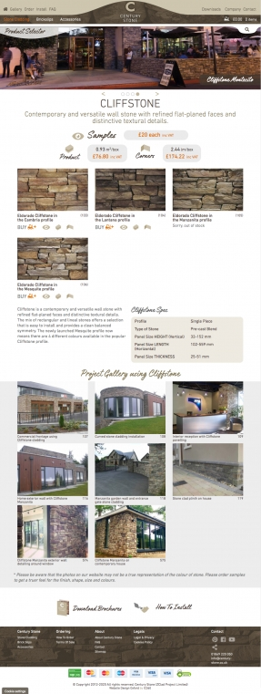 Stone Cladding panels product page