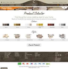 Stone Cladding product selector