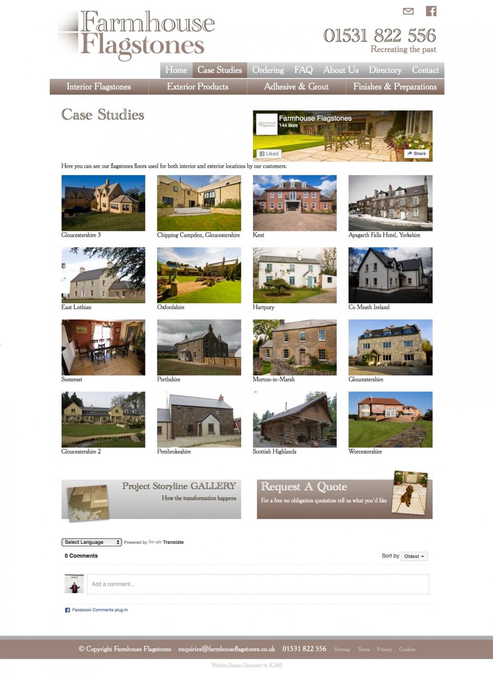 custom website design and build to floor farmhouse