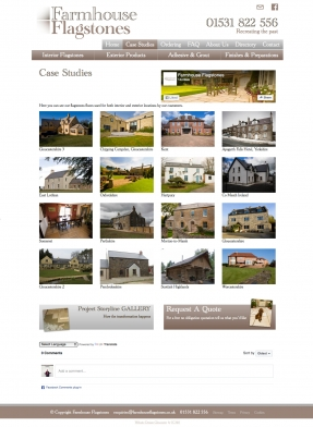Case studies to give customers larger project examples