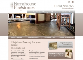 Custom website design and build to floor Farmhouse Flagstones' competition