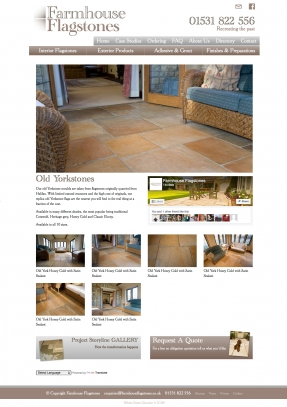 Product page showing off examples flagstone floors