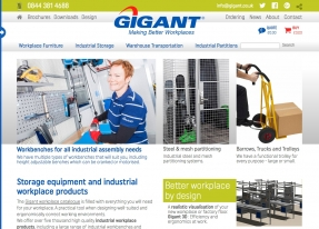 Bold new responsive ecommerce website created for Gigant