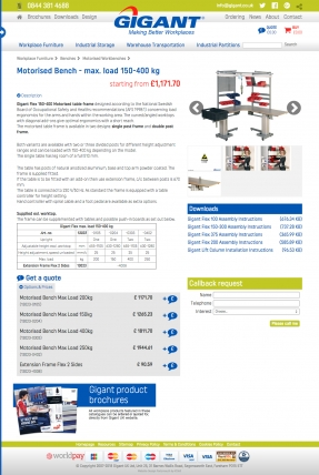 Gigant product page