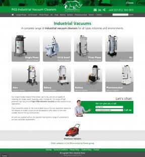 Industrial Vacuums homepage