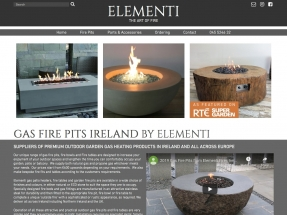 Stylish website created for Elementi Fires (Ireland) to promote their range of outdoor fire pits
