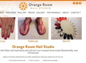 Glamorous new website designed and built for the Orange Room Nail Studio
