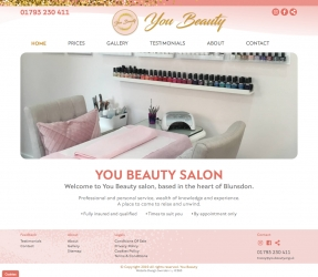 You Beauty website homepage