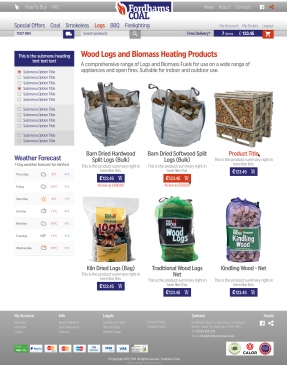 Coal and logs product categories