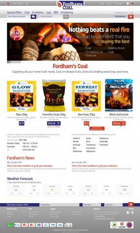 Fordhams Coal website homepage