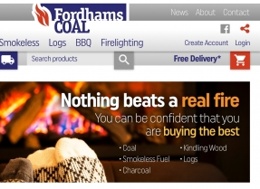 Mobile friendly ecommerce website and backend order management system for Kent coal merchant