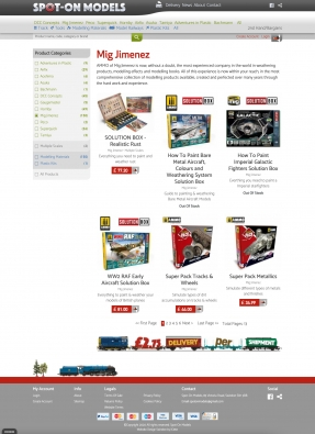 Product category listing page