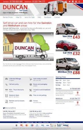 Duncan Self Drive Homepage
