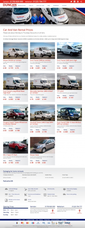 Vehicles available to rent