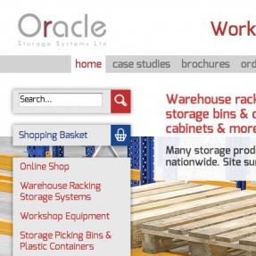 Oracle Storage suite of websites target all aspects of office & industrial storage
