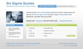 Six Sigma Quotes - website offering the best quotes for Six Sigma Training